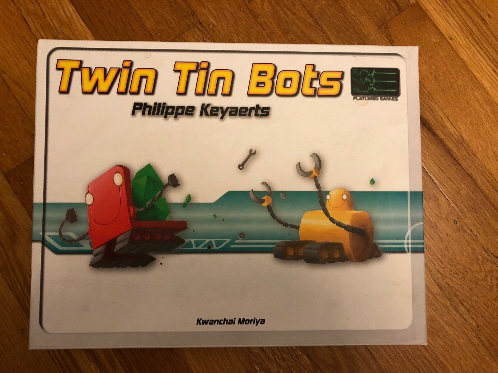 TWIN TIN BOTS BOTS BOTS Flatlined Board Game COMPLETE PLAYED ONCE MINT CONDITION 5a444d