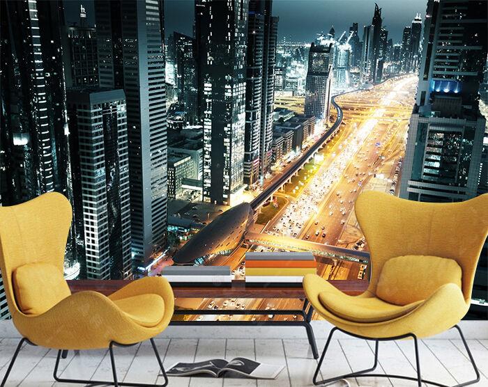 3D Strada d'Gold Parete Murale Foto Carta da parati immagine sfondo muro stampa