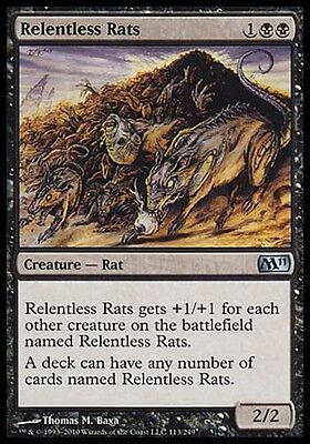 Relentless Rats *Uncommon* Magic MtG x1 M11 SP