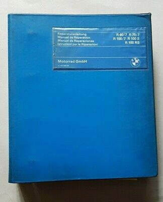 Il Prezzo Più Economico Bmw R 60-75-100\7-100 S-100 Rs 1978 Manuale Officina Originale Workshop Manual