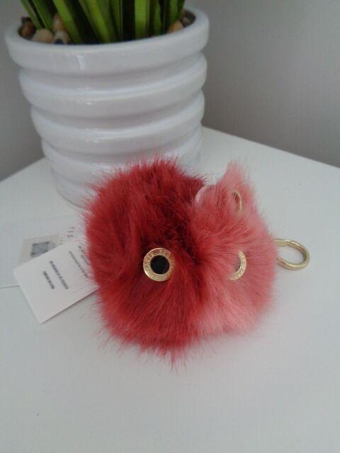 BNWT Ted Baker Coral Pom Pom Fluffy Character Key Bag Charm Keyring cafb998f109fd