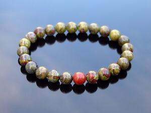 Dragon Blood Natural Gemstone Bracelet 6-9'' Elasticated Healing Stone Chakra