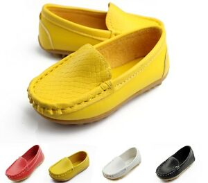 2017-Kids-shoes-boys-girls-children-boat-shoes-flats-slip-on-Loafers-dress-shoes