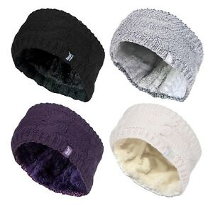 Heat-Holders-Womens-Fleece-Lined-Cable-Knit-Thermal-Winter-Ear-Warmer-Headband