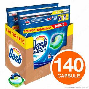 140 Pastiglie Dash Pods Classico All in 1 Detersivo Lavaggi Lavatrice in Capsule