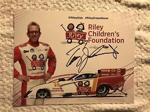 Tommy Johnson Jr Signed Promo Hero Card Nhra Photo 2019 US Nationals Only Rare