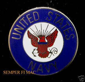 0acea06592c US NAVY LOGO SEAL LAPEL HAT PIN VETERAN GIFT USN USS CVA BB DD SSN ...