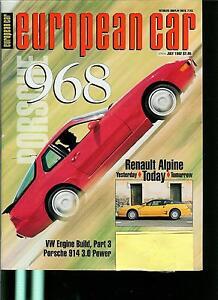 EUROPEAN CAR MAGAZINE FORMERLY VW & PORSHE OLD VINTAGE JULY 1992