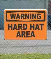 Warning Hard Hat Area - Osha Safety Sign 10 X 14