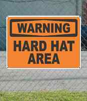Warning Hard Hat Area - Osha Safety Sign 10 X 14