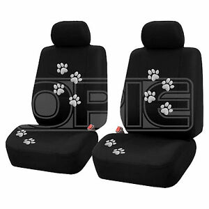 Paw Print Car Seat Cover Set