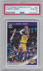2018-Panini-Donruss-Optic-Lebron-James-94-PSA-10-Gem-Mint-Los-Angeles-Lakers