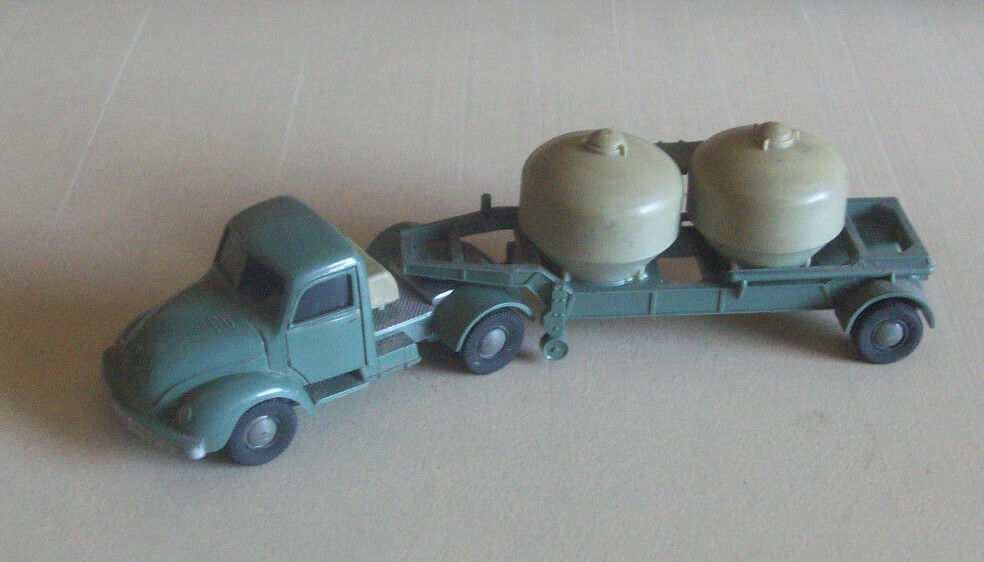 Vintage WIKING HO Plastique MAGIRUS semi Ciment camion citerne RARE