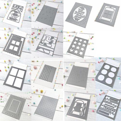 Window Background Frames Metal Cutting Dies Scrapbooking Embossing Stencil Craft