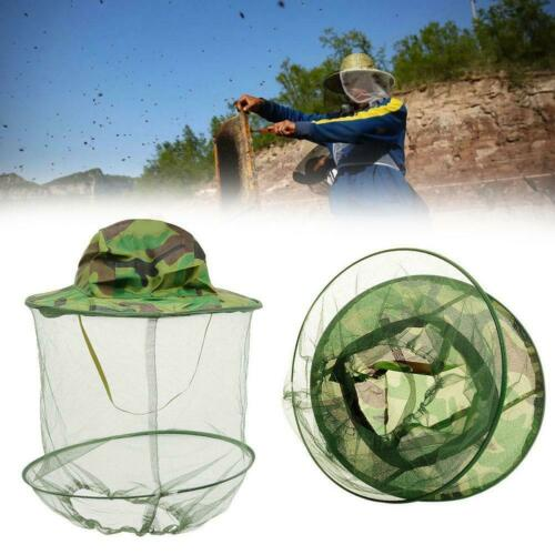 Beekeeping Cowboy Hat Mosquito Bee Insect Net Veil Hat Cap Face Heads Protector