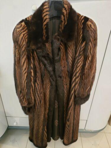 GORGEOUS Ranch Demi Two Tone Brown Real Mink Fur L