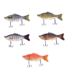 16g-Multi-joint-Segment-False-Bait-10cm-Fishing-Bait-Fish-Lure-Crankbait-HooksDD