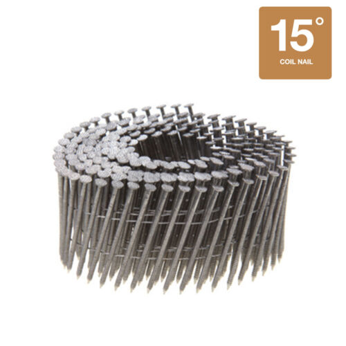 Collated Nails 15 Degree Wire Coil 316 Stainless Steel Siding Nails 1800CT Box