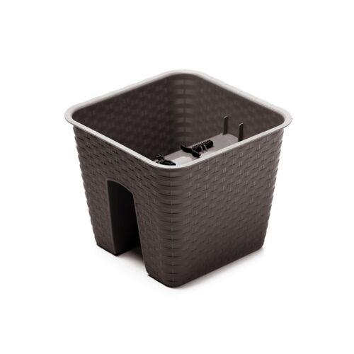 Fiori vaso 28cm pentola ringhiera RATTAN in plastica balcone vaso Umbra DRLB 280
