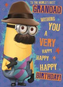 Très bien DESPICABLE ME MINIONS Papy Carte de Joyeux Anniversaire   eBay #HT_15