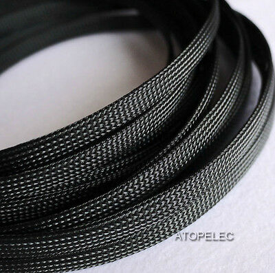 Solid Color 3MM~16MM TIGHT Braided PET Expandable Sleeving Cable Wire Sheath