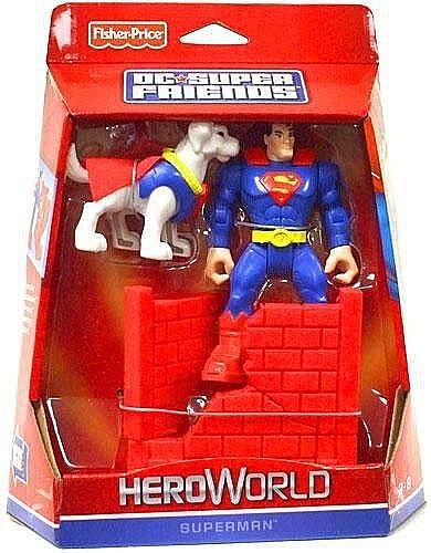 Fisher-price__dc super - freunde heroworld collection__superman figur mit krypto
