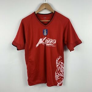 Korea-Football-Team-Soccer-Jersey-Mens-Size-Medium-Short-Sleeve
