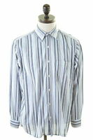 LACOSTE Mens Shirt Size 41 Large Multi Stripes Cotton
