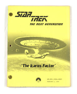 "STAR TREK:TNG ORIGINAL SCRIPT-""The Icarus Factor,""Written by Assael & McCullough"