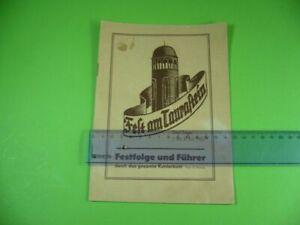 Alte-Broschuere-Fest-am-Taurastein-Juli-1950-Festfolge-und-Fuehrer-Burgstaedt-DDR