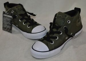 53044aeebe4 Converse Boy s All Star CT Street Mid Olive Black White Sneakers-11 ...