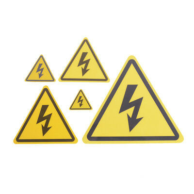 2PCS Danger High Voltage Electric Warning Safety Label Sign Decal Sticker TO