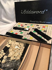 Collectible Pre-owned Vintage 1955 Addaword Board Game (Scrabble look-alike)