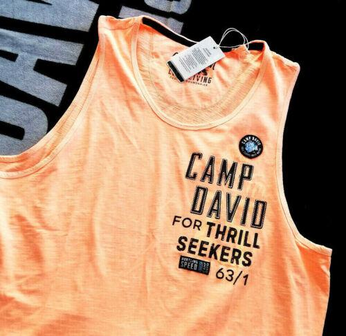 Brand actuellement Camp David aisselle shirt Porteur Shirt T-shirt M L Xl Xxl Xxxl 3xl Neuf