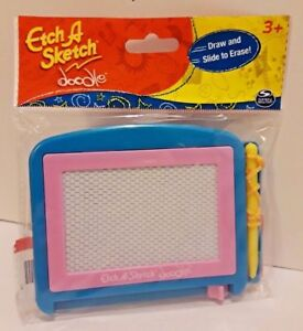 Etch-A-Sketch-doodle-Draw-amp-Slide-To-Erase-No-Knobs-No-Shake-Spin-Master-New-w