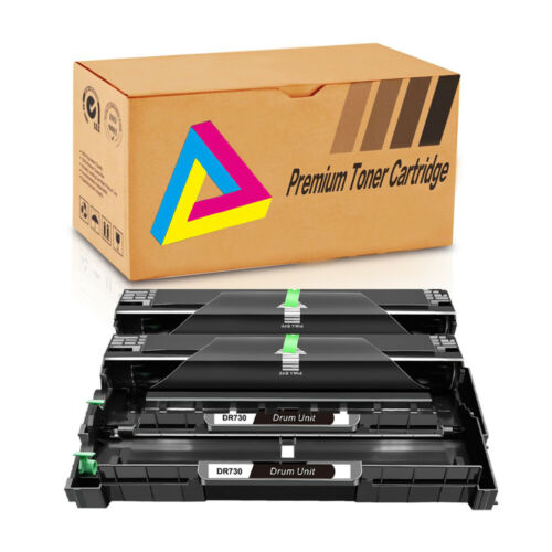 2x DR730 DR 730 Drum For Brother DCP-L2550DW MFC-L2710DW MFC-L2730DW MFC-L2750DW