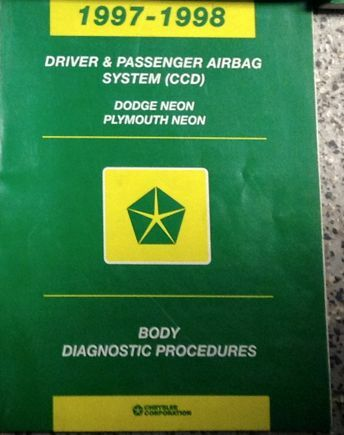 1997 1998 DODGE PLYMOUTH NEON Body Diagnostic Procedures Manual Book Factory OEM