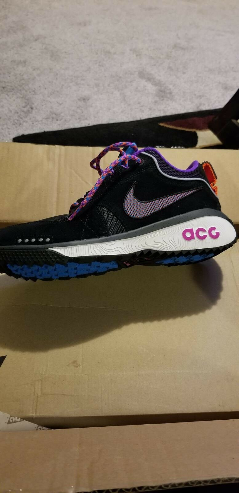 Nike ACG Dog Mountain Black Equator blueee Dark Grey AQ0916-001 Size 12