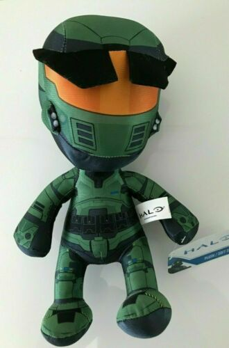 """Licensed New Halo Plush Large 12/"""" Green Toy Master Chief NWT Soft"""