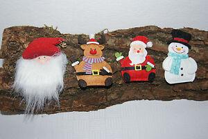 Tischdekoration-Deko-Weihnachten-Weihnachtsmann-Rentier-Schneemann-Nikolaus-Filz