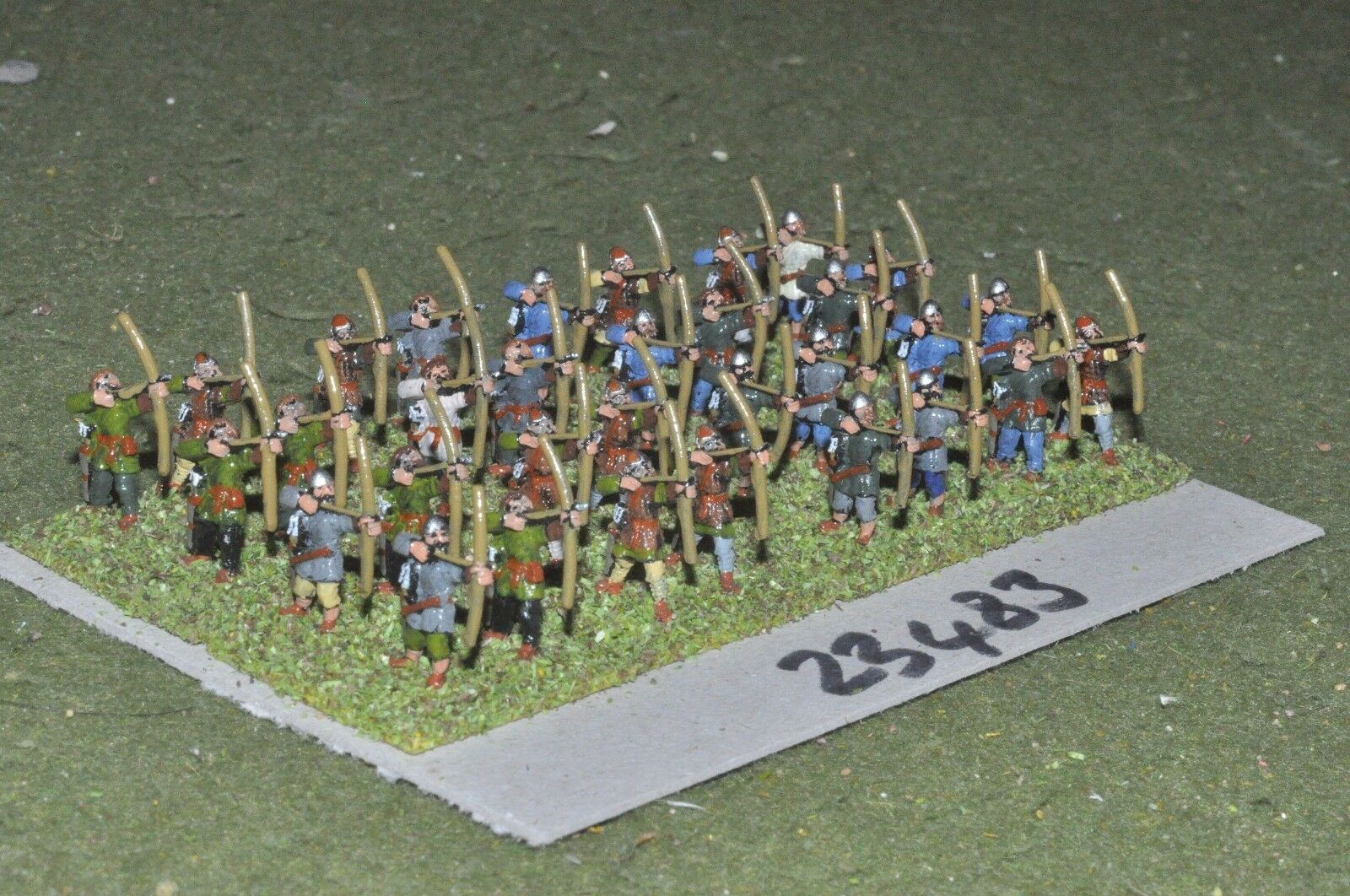 15mm dark ages   british - archers 32 figures - inf (23483)