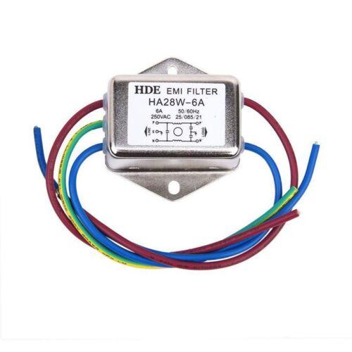 Netzfilter Power EMI Filter HA28W-6A 50//60Hz 250V AC V6F6