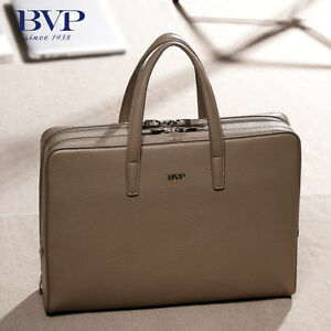Image Is Loading Highend Men Real Leather Business Tote Portfolio Briefcase