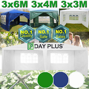 3m 4m 6m Outdoor Car Canopy Portable Cover Gazebo Garage ...