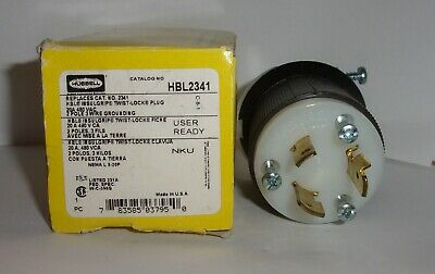 NEW NOT  IN BOX HUBBELL 2341 TWIST-LOCK PLUG 20 AMP 480 V