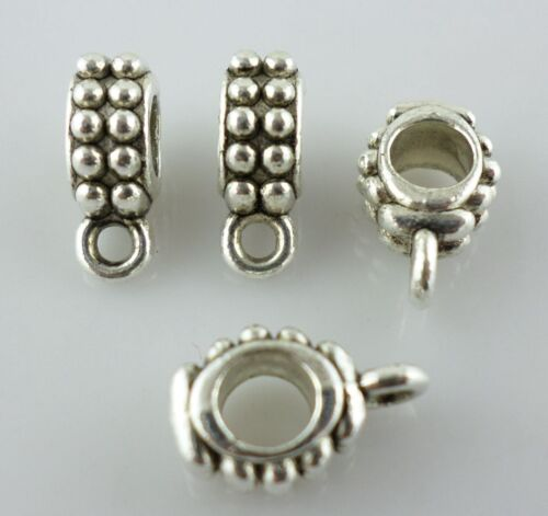 20//60pcs Jewelry Making Tibetan silver Connector Bails Charms Pendants 5*8*13mm