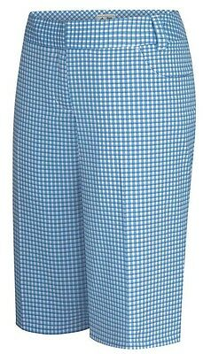 "Nike Boardwalk Prism Blue White Plaid Shorts $38 976050-496 Boys Youth 18// 29/"" w"