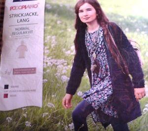 more photos 8183a 095dd Details zu Mädchen Strickjacke Cardigan lang Gr. 140 dunkelblau Kuschel  Fleece