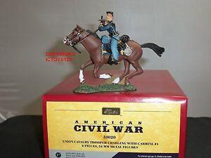 Britains 31020 Union Cavalry Trooper charge avec un soldat de jouet monté à la carabine