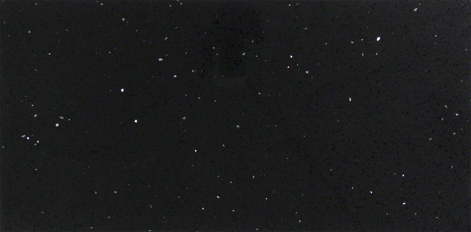 Bodenfliese Schwarz Quarz komposit Quazstein Glänzend 30x60 cm